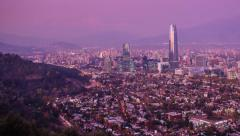 Santiago Timelapse panning left to right Stock Footage