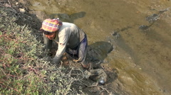 Traditional Crab Hunter - 2 Stock Footage