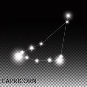 Stock Illustration of Capricorn Zodiac Sign of the Beautiful Bright Stars Vector Illus