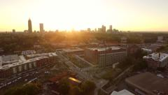 Atlanta skyline sunset Aerial - stock footage