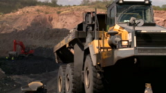 Coal truck in a mine Stock Footage