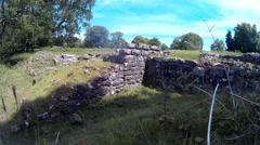 Roman Bath House at Lydney 03 Stock Footage