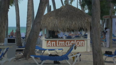 The Animacion beach bar in The Dominican Republic Stock Footage