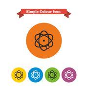 Atom icons - stock illustration