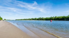 River bank with sand. Stock Footage