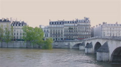 River Seine, Paris Stock Footage