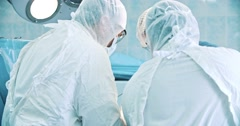 Scene of an operation Stock Footage
