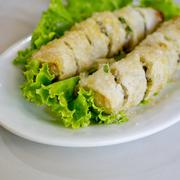 Fried Viet Nam Traditional Spring rolls food Stock Photos