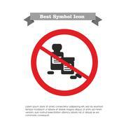 No pill bottles icon Stock Illustration