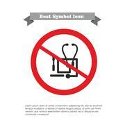 No stethoscope and tongue depressors icon - stock illustration