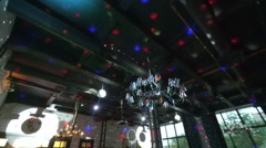 Party lights disco ball - stock footage