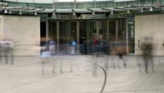Busy Office Revolving doors Stock Footage