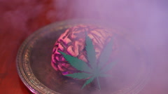 Brain on pot drugs Stock Footage