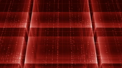 Cubes background with matrix text RED Stock Footage