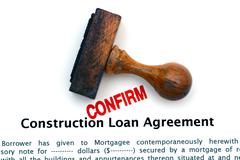 Construction loan agreement - stock photo