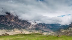 Time lapse.The formation of clouds over alpine meadows. Stock Footage