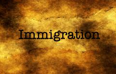 Immigration grunge  concept Stock Photos