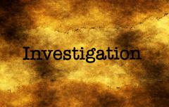 Investigation grunge text - stock photo