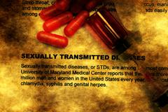 Sexually transmitted disease grunge concept Stock Photos