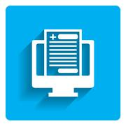 Electronic health record icon Stock Illustration
