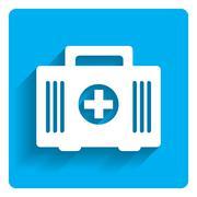 First aid kit icon - stock illustration