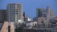 Apartment Buildings In Residential Area Of Tokyo Japan At Dusk Stock Footage