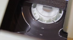 Video Cassette Reel Turning (Ver 1) Stock Footage