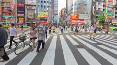Time Lapse of people walk across the road in Kabukicho 4K UHD - stock footage