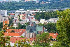temple of rise of Virgin Mary in Brno, the Czech Republic - stock photo