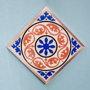 Ceramic tiles patterns colorful style. Stock Photos