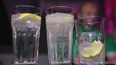 Barman making cocktail at the night club Stock Footage