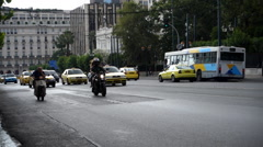 Traffic on the street, Athens Stock Footage