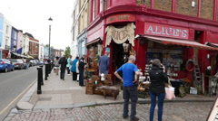 Famous Alice's Shop in Notting Hill - stock footage