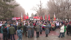 Volgograd Parade 70th Anniversary Stalingrad battle - stock footage