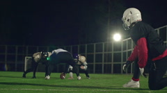 Tackling the Ball Carrier Stock Footage