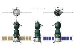 Hi-detailed spaceship Stock Illustration