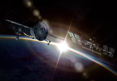 Space maneuver on the Earth orbit Piirros
