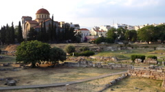 Kerameikos graveyard.  Athens Stock Footage