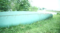Canoe in yard boat Stock Footage
