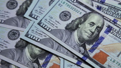Close up of american dollars Stock Footage
