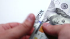 close up of  money count - stock footage