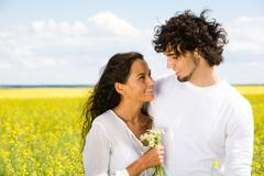 Mutual attraction - stock photo