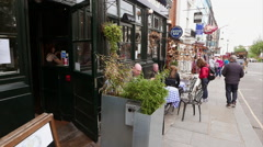 Shops and cafes in Notting Hill - stock footage