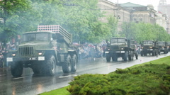 Convoy of Military Equipment 2 - stock footage