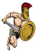 Stock Illustration of Gladiator warrior sports mascot