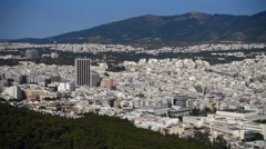 The city of Athens from capitol hill - stock footage
