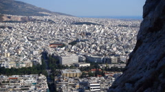 Athens on the edge of a cliff Stock Footage