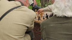 Old Men Playing Chess 3 Stock Footage