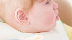 Close-up of soft baby care - stock footage