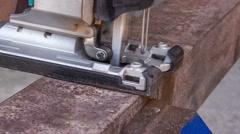Cutting metal workpiece Stock Footage